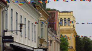 På bilden syns husfasader i Kalmar