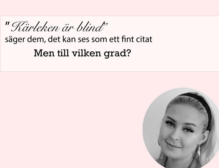 Ljusrosa bild med text. profilbild på skribenten Tessa Pohjanen till vänster